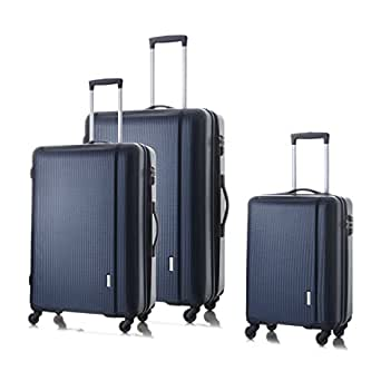 Hard Shell Luggage,Navy 20'', 24''and 28'', On 360 Spinner Wheels