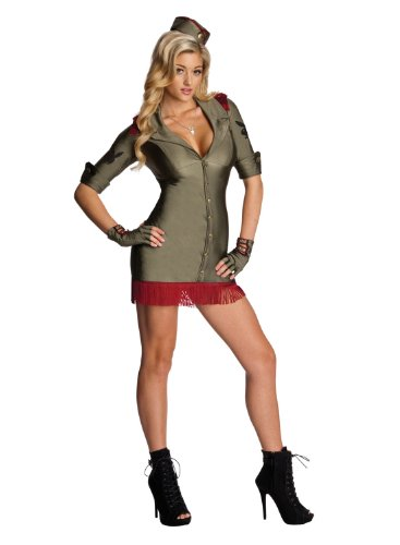 [Rubie's Costume Co Womens Secret Wishes Playboy Bombshell Costume, Green,] (Army General Womens Costume)