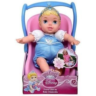 Disney Princess Travel With Me Baby Cinderella with Doll Car
