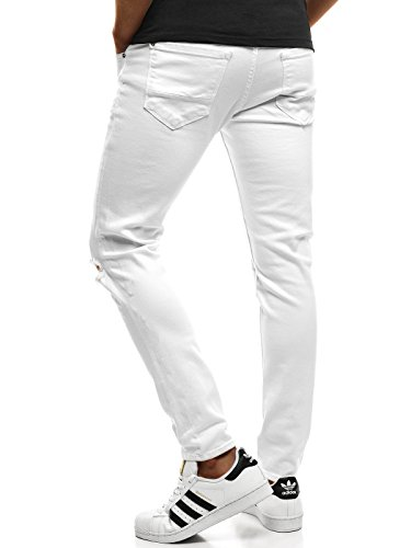 Ginnastica Otantik Ozonee Bianco Uomo Sportivi Pareggiatore Libero Per Pantaloni b Tempo Da ozonee 1805 Jeans 8021 8Rqw8v