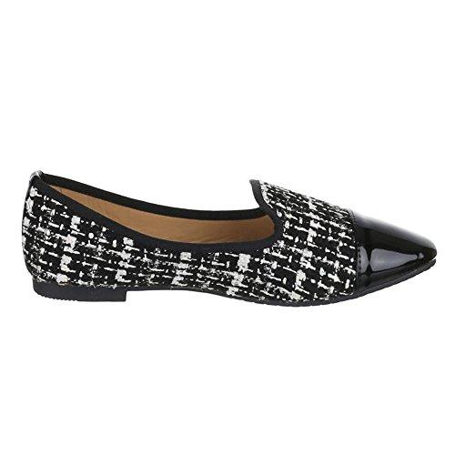 Womens Black Shoes Slipper halbschuhe ZT White Stylish r1X6rx