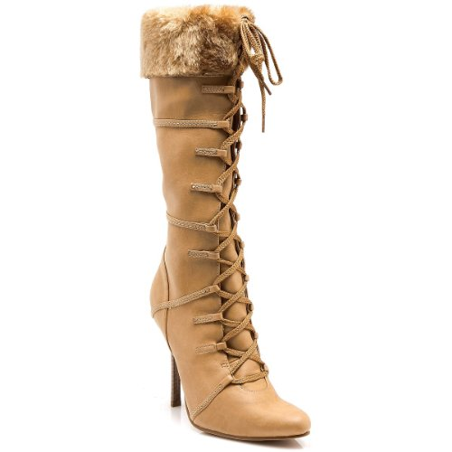 (Viking Boots Adult Costume Shoes Tan - Size)