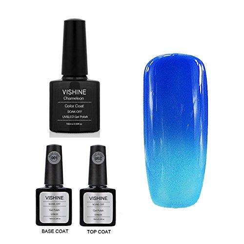 Vishine Temperature Change Color Soak Off UV LED Gel Base To