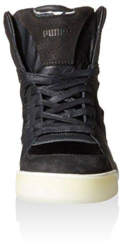 Puma Women's MCQ Move Femme Mid Sneaker, Black/Autumn Glory Yellow, 9 M US
