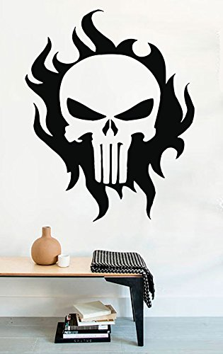 Wall Decals Chris Kyle Punisher Skull Comics American Sniper Vinyl Decor Stickers MK0703 (Wall Flame Decal)