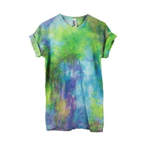 Rainbow Tie Dye Unisex T-Shirt Pattern Shirt short Sleeve Plus Size S, M, L, XL, XXL, XXXL by Masha Apparel