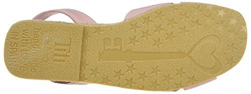Plana con Classic Pink Silver Plataforma Sandalias Rosa Titi para Couture Mujer CfqwZPxUA