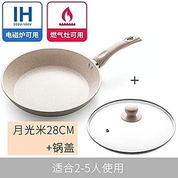 Sartenes Maifanshi Pan Antiadherente Sartén Pequeña sartén Mini cocina de inducción Estufa a gas especial Universal