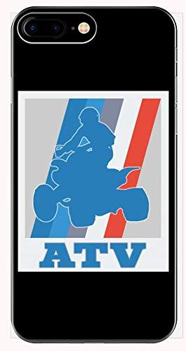 ATV Retro Blue Red Quad Biking Gift - Phone Case iPhone 6+, 6S+, 7+, 8+