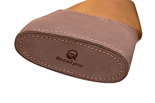 Recoil Pad Shotgun for Rifles Slip On Genuine Leather Padding Inserts Adjustable Premium Quality - Stock Pro Leather