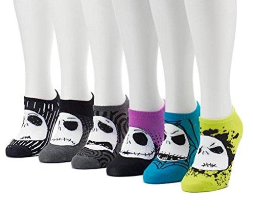 Women's 6-pk. Tim Burton's The Nightmare Before Christmas No-Show Socks