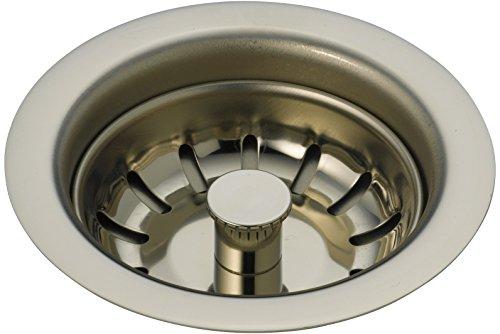 (Delta Faucet 72010-PN Kitchen Sink Flange & Strainer, Polished Nickel)