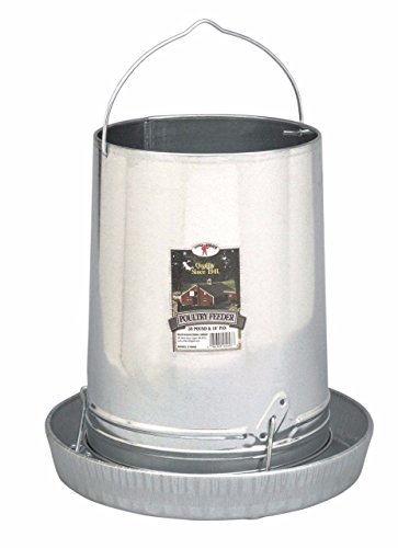 Hanging Poultry amp Gamebird Feeder with Feed Pan 30 Lb Galvanized Steel