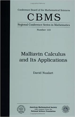 Book Malliavin Calculus and Its Applications (CBMS Regional Conference Series in Mathematics) by David Nualart (2009-04-30)