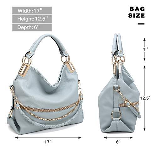 e8fc55b2203f Dasein Women s Classic Rhinestone Detail Large Hobo Bag Top Handle Purse  Shoulder Bag w Shoulder