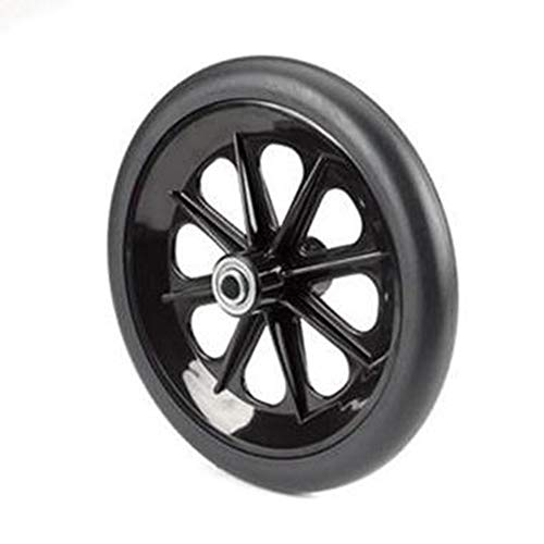 - The Aftermarket Group Wheelchair Caster Assembly, 8-Spoke Rim, Black, 8