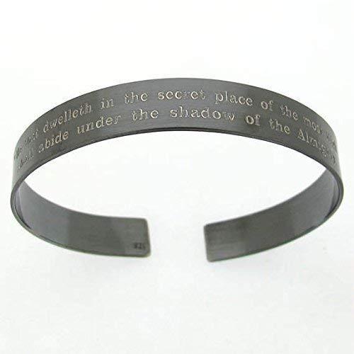 KIA Bracelet - Personalized Military Bracelet- Black Cuff - Veterans gift - In Loving Memory Remembrance Bracelet - Custom Black Cuff for Men - Mens Jewelry - Father Day Gift ()