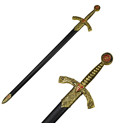 AnyTime Blades Knight Templar Sword with Hard Scabbard