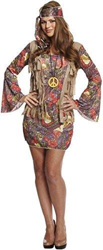 Ladies Hippie Hippy Groovy Fancy Dress Costume 1970s 1960s Outfit 70s 60s Tie Dye U37900 by Fancy Pants Party (Sixties Fancy Dress Costumes)