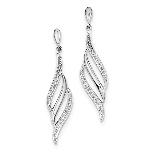 ICE CARATS 925 Sterling Silver Diamond Swirl Post Stud Drop Dangle Chandelier Earrings Fine Jewelry Ideal Mothers Day Gifts For Mom Women Gift Set From Heart by ICE CARATS