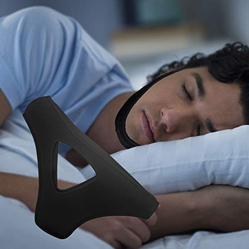 Anti Snore Chin Strap to Help Good Sleep - Snore Stopper Sleep Aids Solution - Adjustable Stop Snoring Device for Men Women (BlackTriangle) from pashanxxr