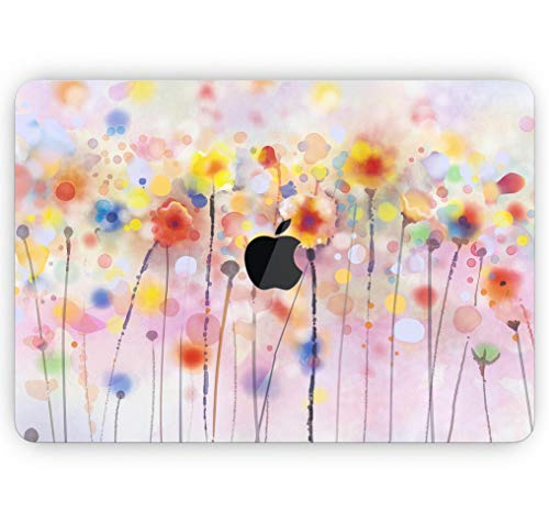 Drizzle Watercolor Flowers V1 - Design Skinz Premium Full-Body Cover Wrap Gloss Finished Decal Skin-Kit for The MacBook Air 11