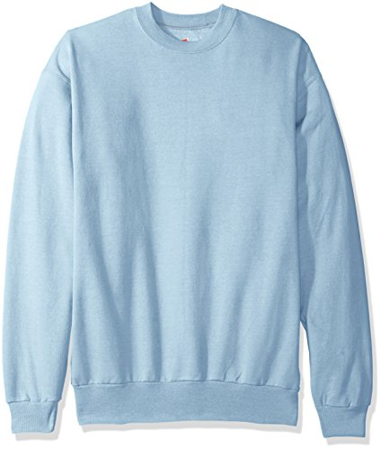 Hanes Men's Ecosmart Fleece Sweatshirt, Light Blue, Medium