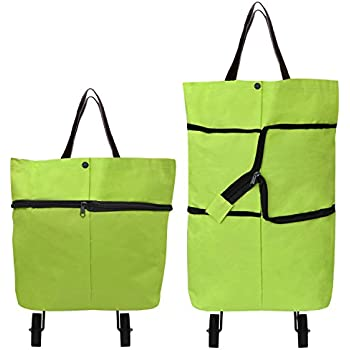 Amazon.com: Services for You Collapsible Foldable Rolling Shopping ...