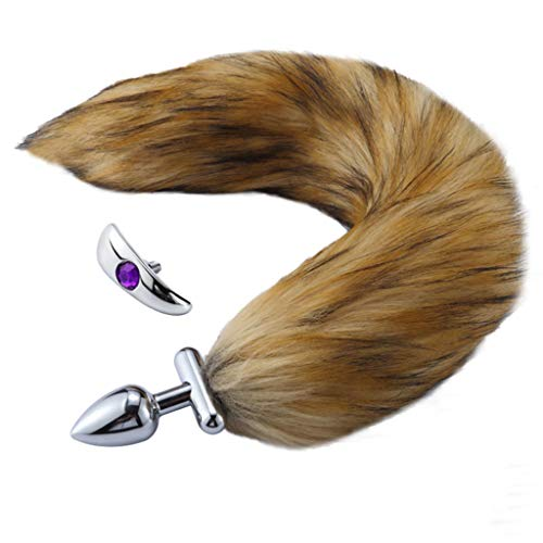 132f422fd WEISHA Thick Faux Fox Tail Stainless Steel Fun Plug Romance Play Party Toy  Love Gift