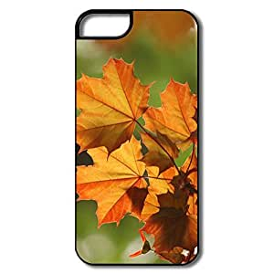 IPhone 5/5S Cases, Orange Leaves White/black Cases For IPhone 5