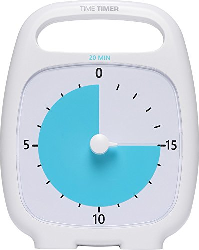 Time Timer Plus 20 Minute Visual Analog Timer Optional Alert (VolumeControl Dial) No Loud Ticking; Time Management (Visual Tools)