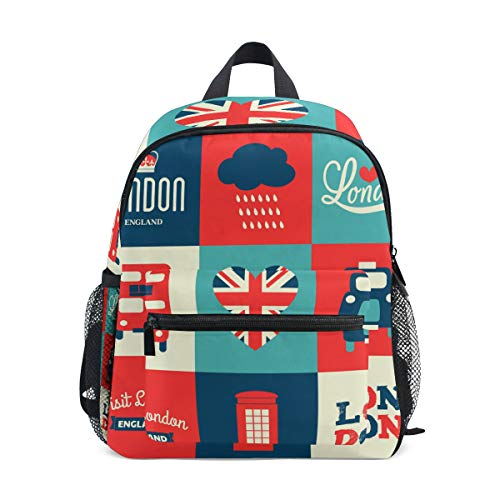 Lightweight Backpack London Symbols Art Travel Rucksack for School Boys Girls ()