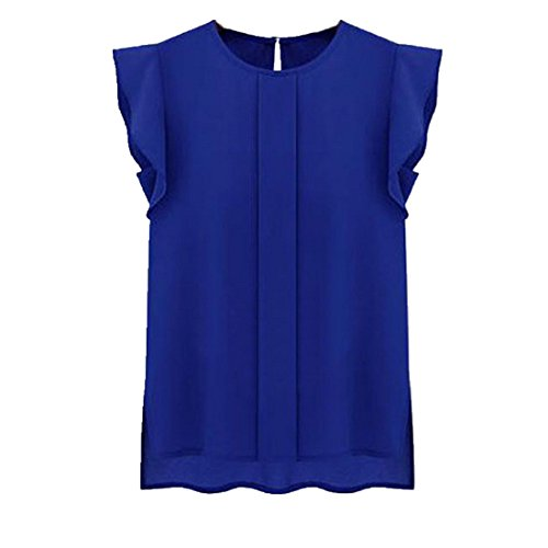 Blouses,Toraway Women Summer Tulip Sleeve Chiffon Blouse Shirt