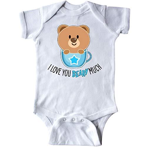 inktastic I Love You Beary Much- Cute Bear in Tea Infant Creeper Newborn White