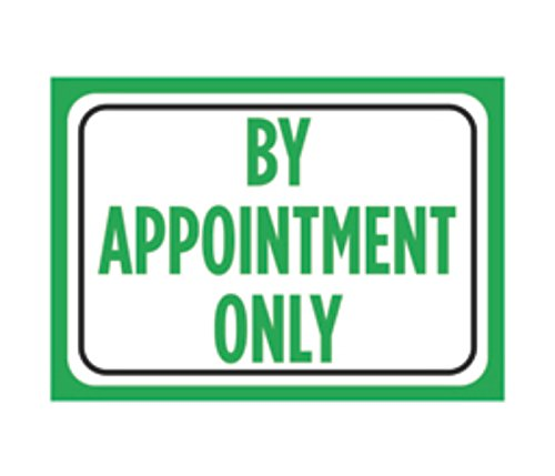 By Appointment Only Print White Green Black Poster Business Office Sign