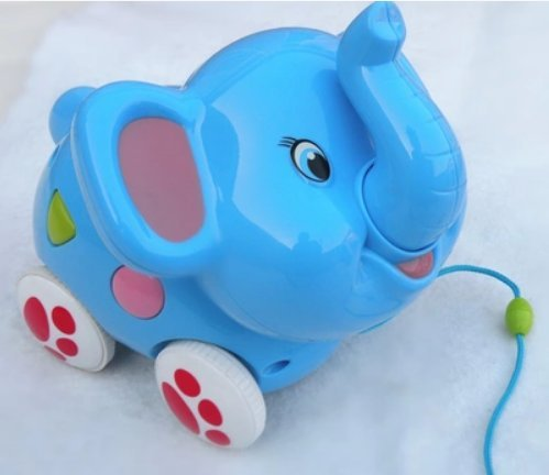 The Best U Want 1 Pcs Drag Plastics Toys Elephant,Can Listen To Music,Exercise Your Baby Hearing And Reaction,Exercise The Baby Ability To Act,Safety And Environmental Protection