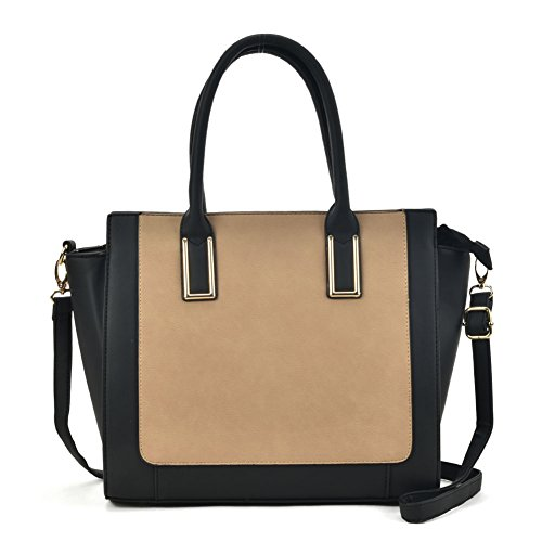 Top Handbags Bag Tote YOUNG Apricot Contrast Fashion SALLY Women Satchel Handle xXw7q4Yz