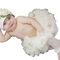 Huggalugs Baby Girls Pettiskirt Newborn Cream