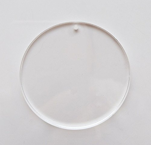 MEYA Set of 15pcs High Clear Blank Acrylic Discs ,Acrylic Round Sheet With Hole 1/8 For Keychains, Jewelry DIY Crafts (Dia 2.0)