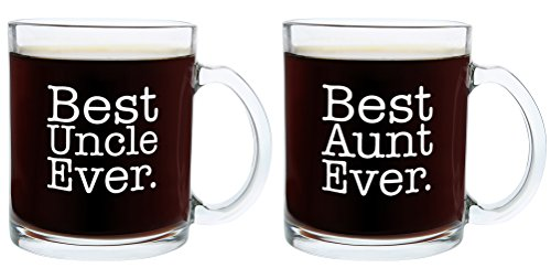Christmas Gifts for Aunt and Uncle Best Ever Funny Fathers Day Gift Glass Coffee Mug Tea Cup
