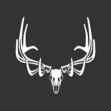 Elk Skull Antlers Bull Hunting Decal Sticker Car Truck Window