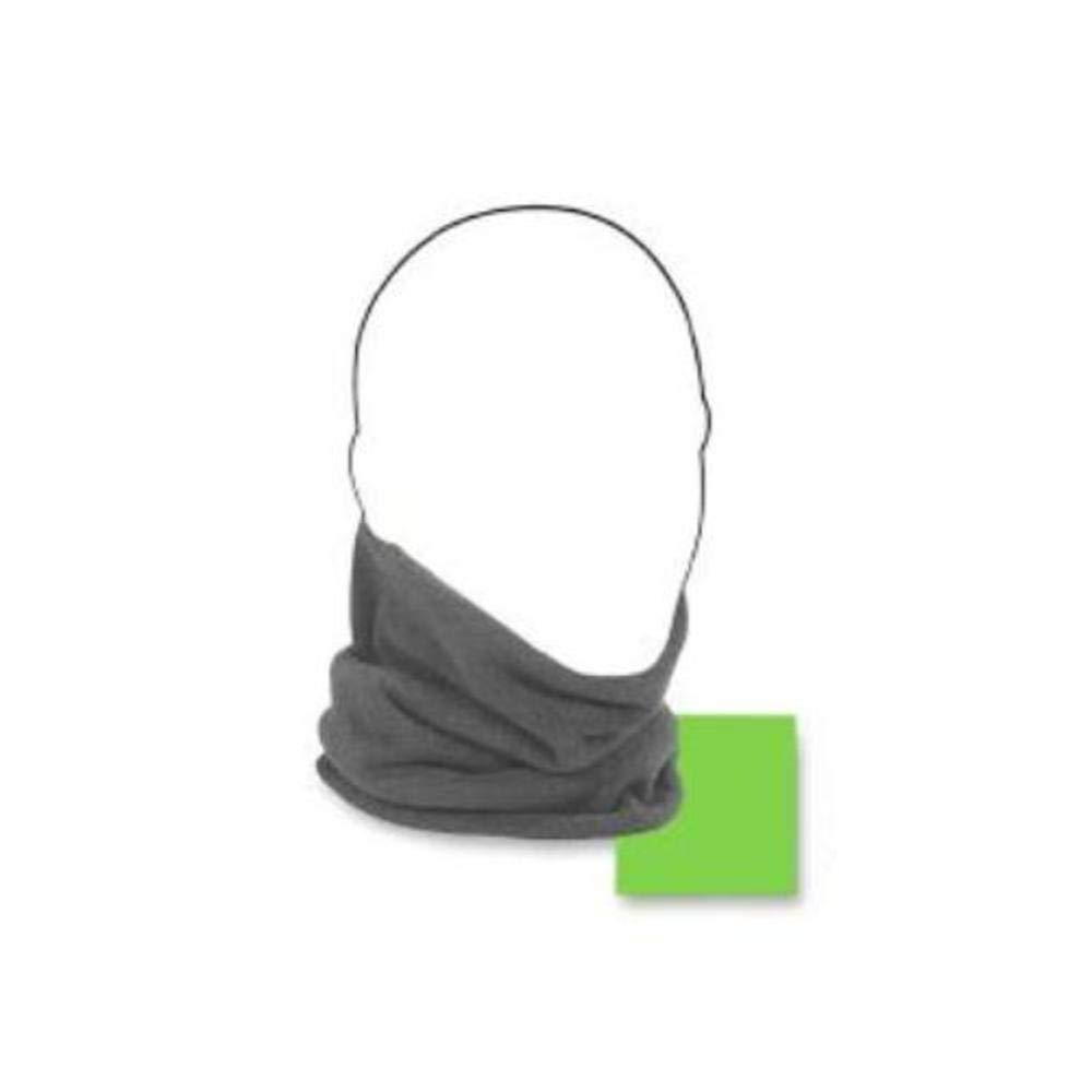 ZANheadgear Microfleece Neck Warmer (Charcoal Grey Reverses to High-Vis Lime, One Size) Zan Headgear SS-SMS-4005863