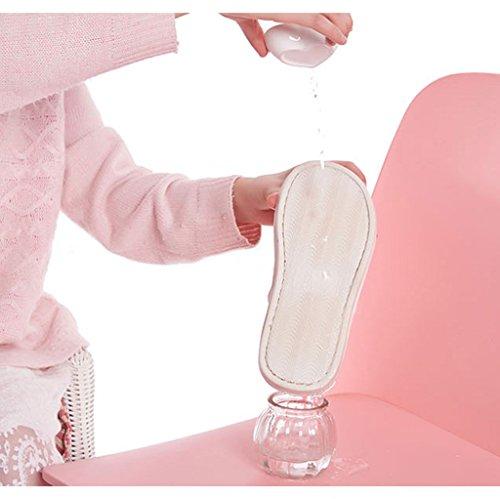 de zapatillas impermeable hogar antideslizante interior Pink zapatos cálido suave acolchado Zapatillas cómodos algodón DWW y qRHBw
