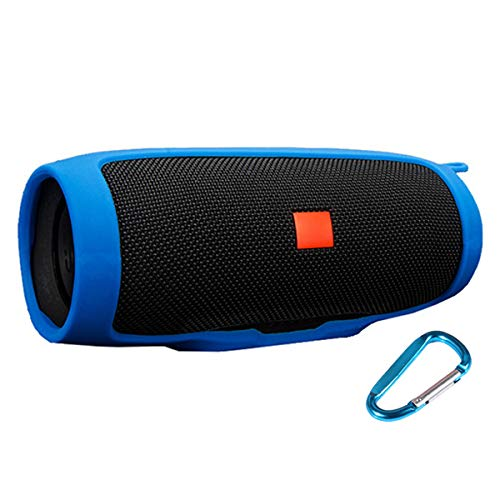 LuckyNV Charge 3 Cases,Travel Carrying Protective Carry Silicone Cover Bag for JBL Charge 3 Bluetooth Speaker Blue