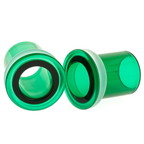 Pair of Glass Single Flared Ey