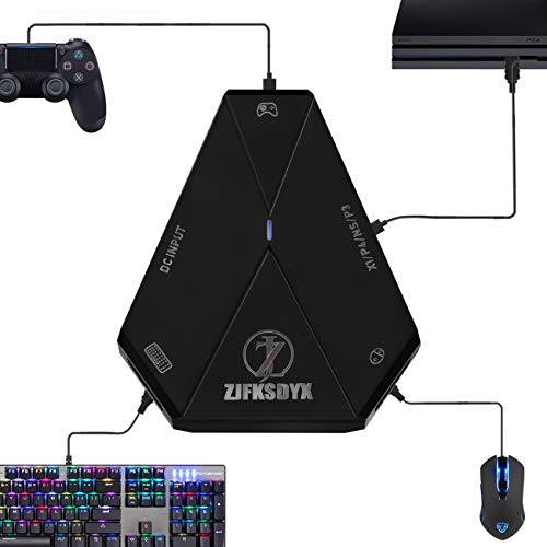 C91 Keyboard and Mouse Adapter for PS4, Xbox One,Switch, PS3,PC (C91 Lite, Black)