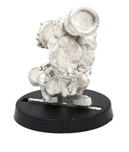 Stonehaven Dwarf Cannoneer No Mustache Miniature Figure (for 28mm Scale Table Top War Games) - Made in US -