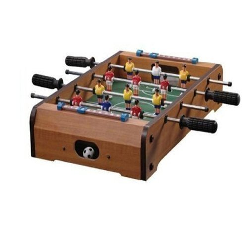 NEW TABLETOP FOOTBALL FOOSBALL TABLE WOODEN SOCCER BOYS GAME PLAY ARCADE STYLE GIFTS4HOME