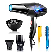 PluieSoleil 3000W Professional Hair Dryer with Diffuser for Women, Salon Ionic Hairdryer with 2 Speed and 3 Heat Setting…