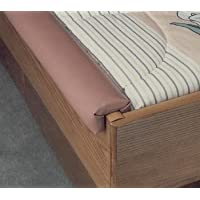 2 Piece Standard Waterbed Rails for Hardside Waterbed (Walnut)